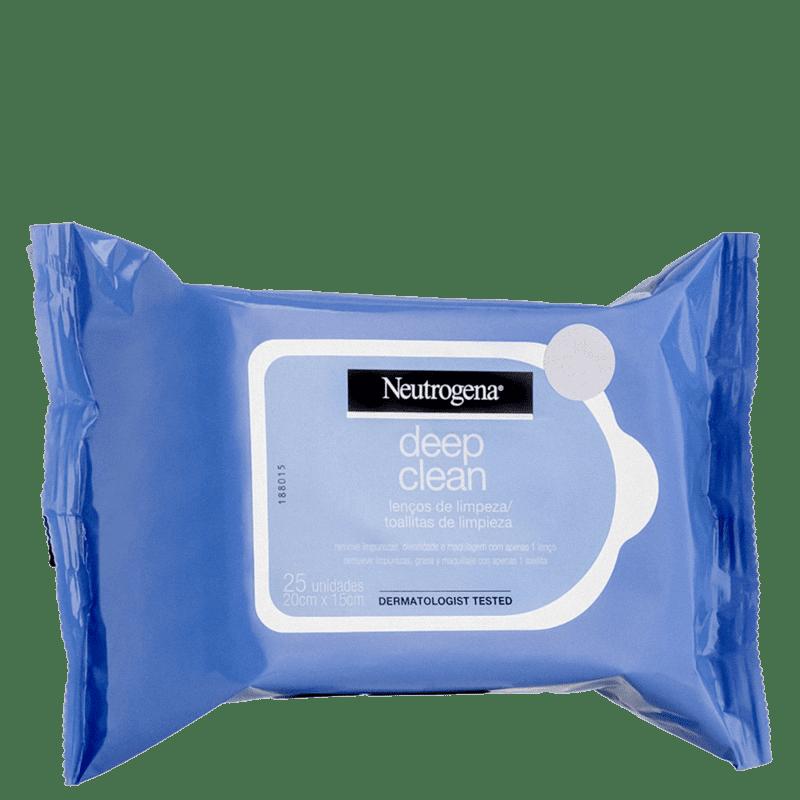 Neutrogena Deep Clean - Lenço Demaquilante (25 unidades)