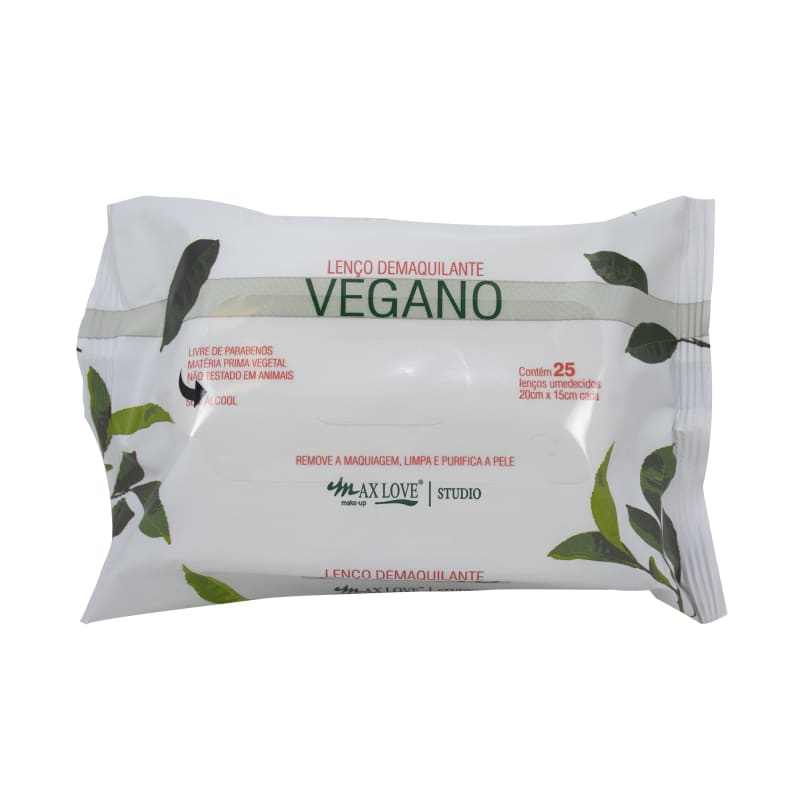 Max Love Demaquilante Vegano - Lenço Demaquilante (25 unidades)