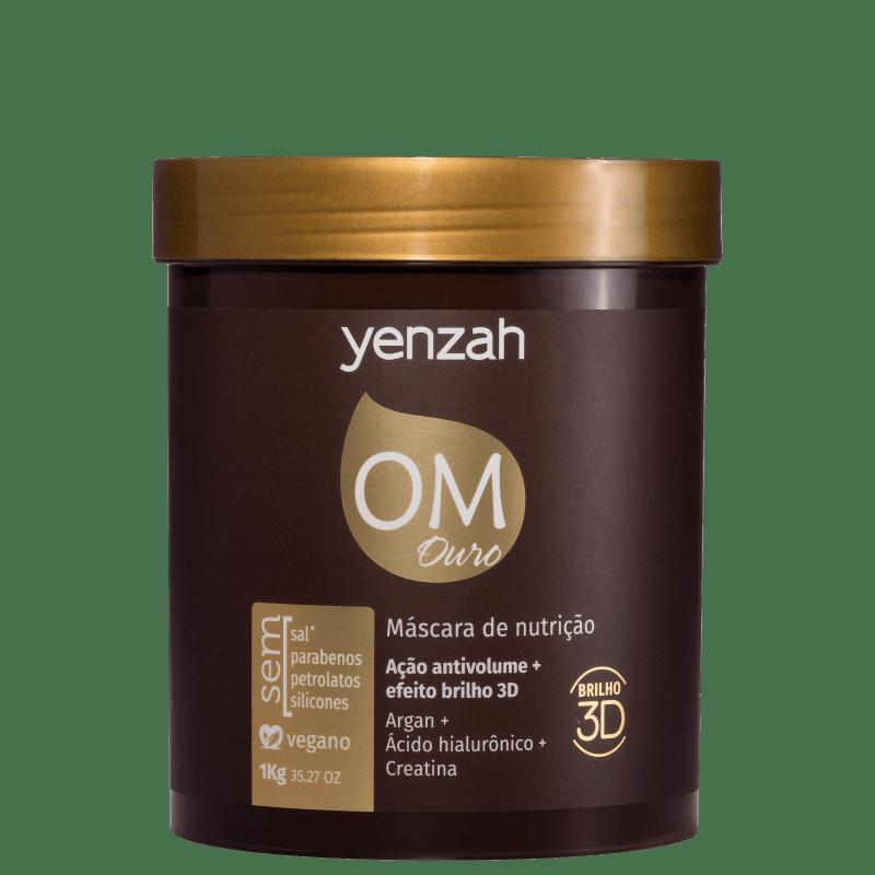 Yenzah OM Ouro Desmaia Fios - Máscara de Hidratação 1000g