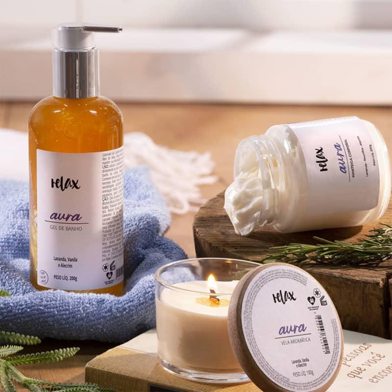 Kit Relax Cosméticos Aura (3 Produtos)