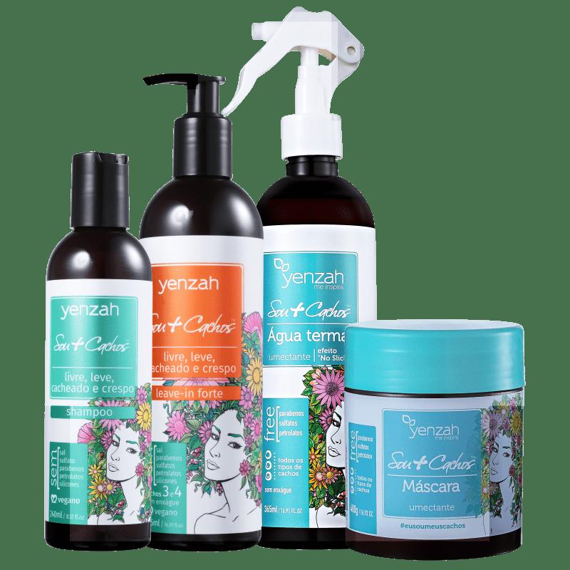 Yenzah Sou + Cachos Tratamento Forte Kit (4 Produtos)