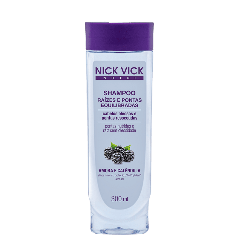 Nick & Vick NUTRI-Hair Raiz e Pontas Equilibradas - Shampoo sem Sal 300ml
