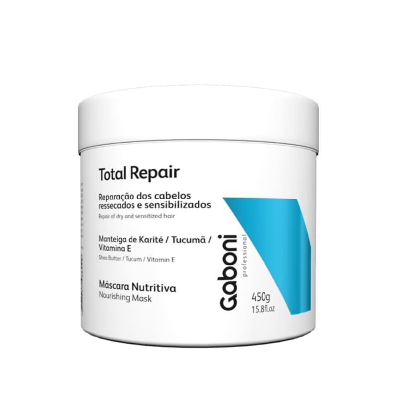 Gaboni Total Repair - Máscara Nutrição e Reparação Total 450g