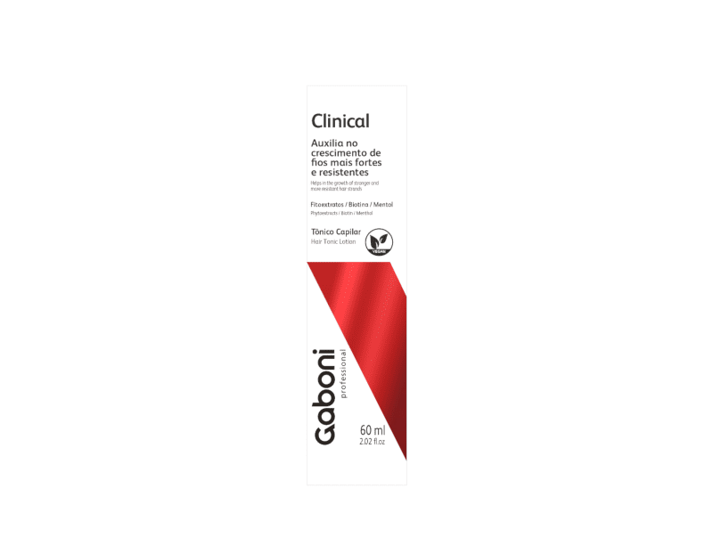 Gaboni Clinical Tonico Capilar Auxilio no Crescimento 60ml