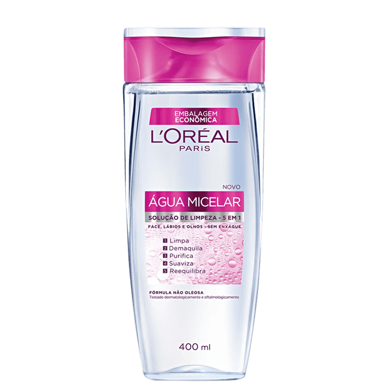 L'Oréal Paris Dermo Expertise Água Micelar 5 em 1 - Água Demaquilante 400ml