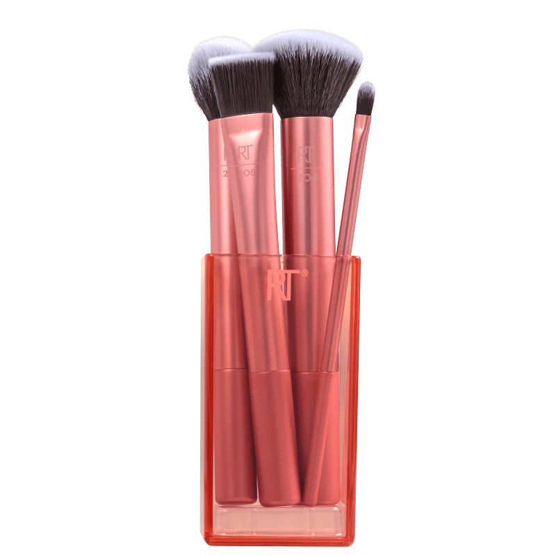 Real Techniques Kit de Pinceis Flawless Base (4 Produtos)
