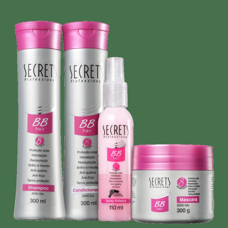 Kit Secrets Professional BB Hair Spray (4 Produtos)