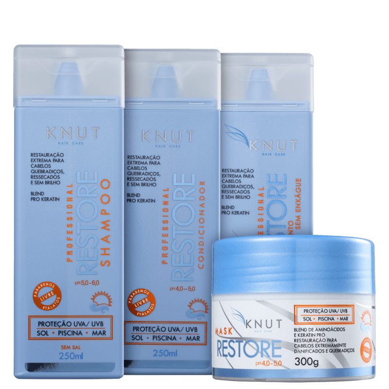 Kit Knut Restore Leave-in (4 Produtos)