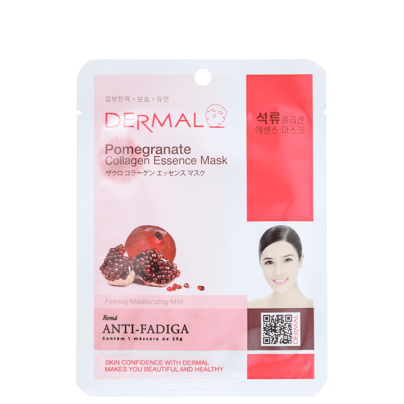 Dermal Pomegranate - Máscara Facial (1 unidade)