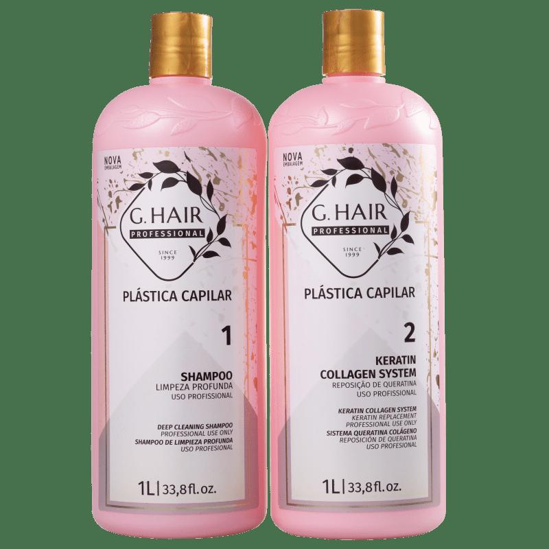 Kit G.Hair Plástica Capilar Marroquina Salon (2 Produtos)
