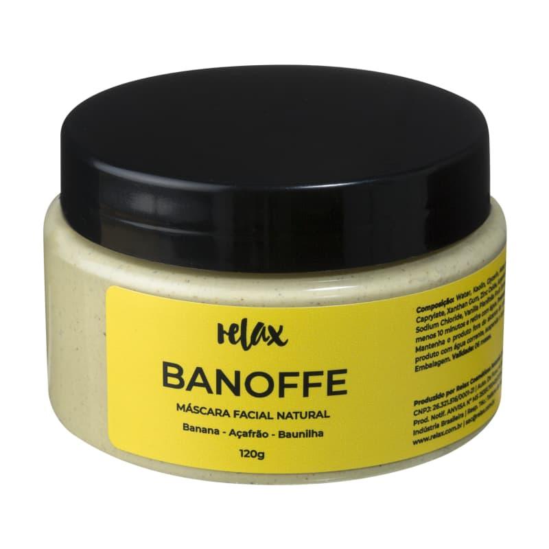 Relax Cosméticos Banoffe Hidratante - Máscara Facial 120g