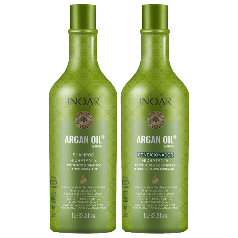 Kit Inoar Argan Oil System Argan Oil Salon Duo (2 Produtos)