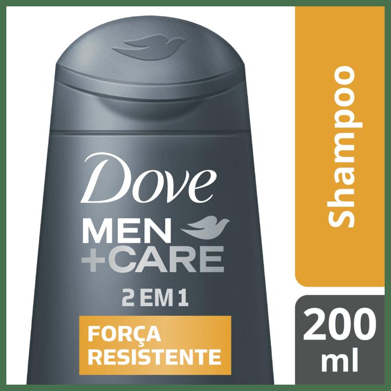Shampoo Dove Men+Care 2 em 1 Força Resistente 200ml