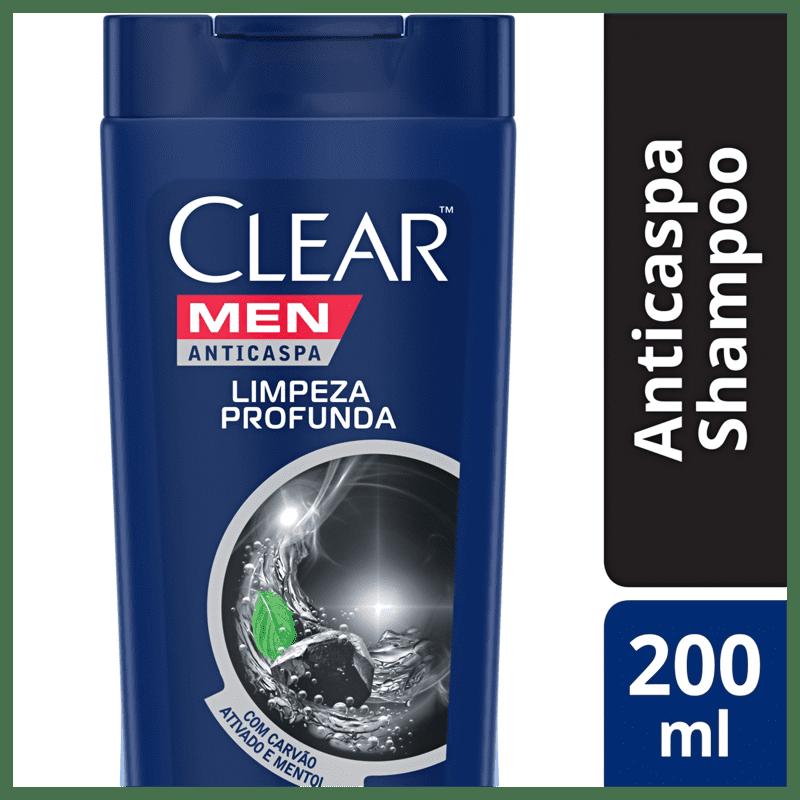 Shampoo Anticaspa Clear Limpeza Profunda 200ml