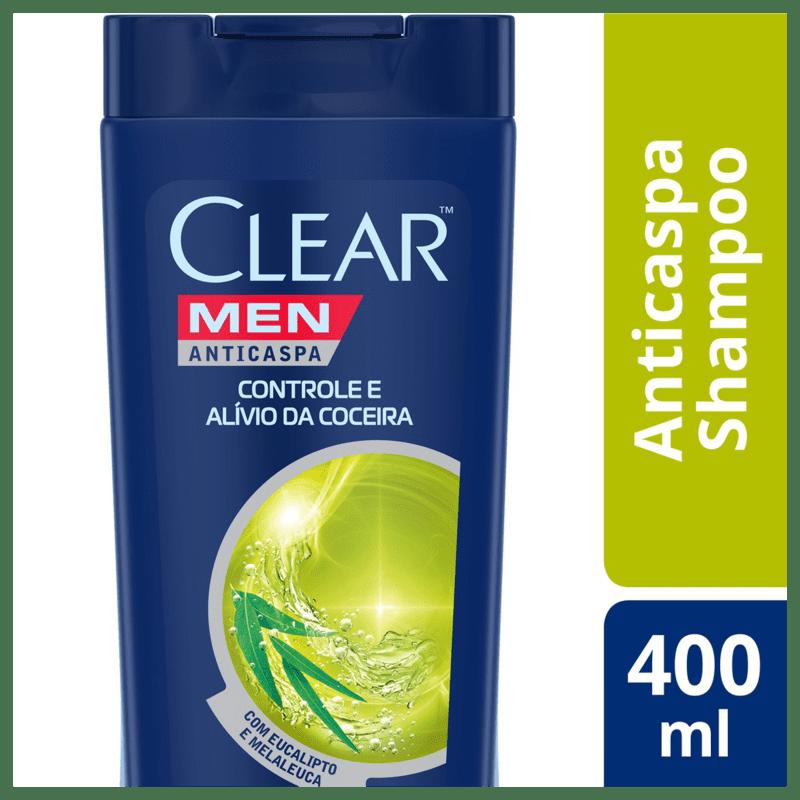 Shampoo Anticaspa Clear Controle e Alívio da Coceira 400ml