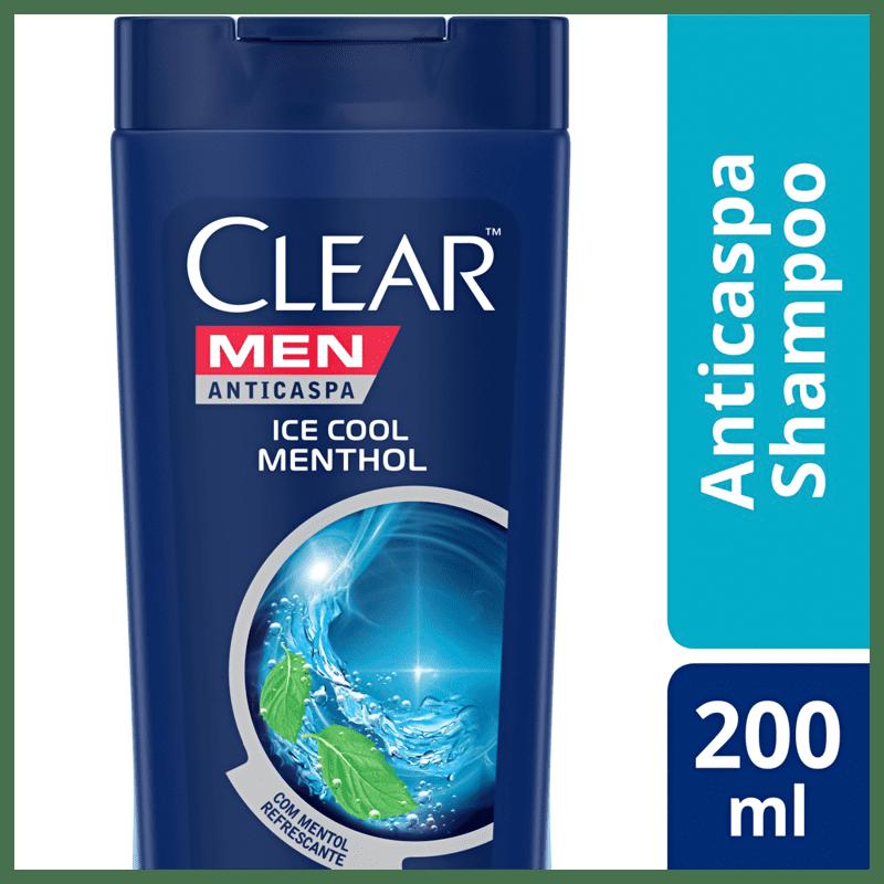 Shampoo Anticaspa Clear Ice Cool Menthol 200ml