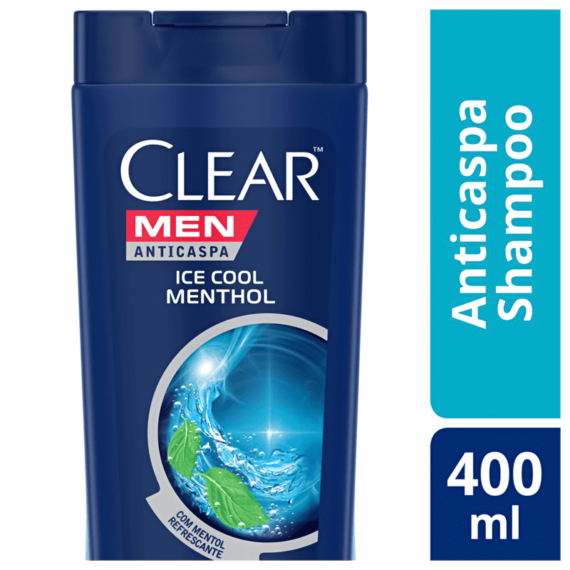 Shampoo Anticaspa Clear Ice Cool Menthol 400ml