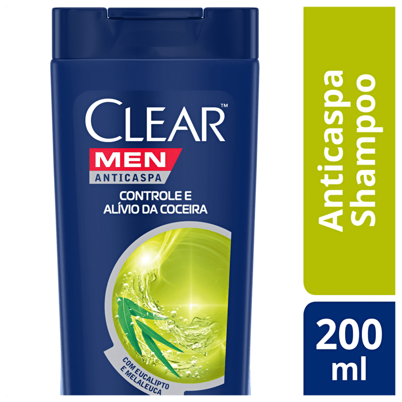 Shampoo Anticaspa Clear Alívio da Coceira 200ml