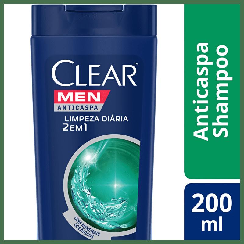 Shampoo Anticaspa Clear Limpeza Diária 2 em 1 200ml