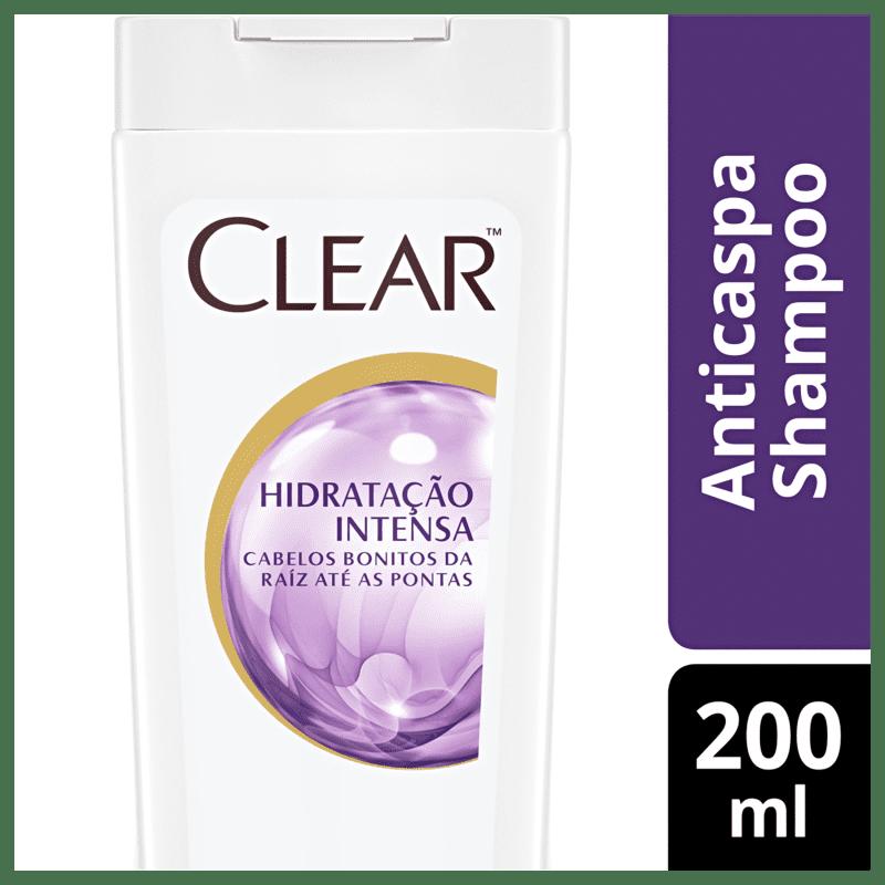 Clear Hidratação Intensa - Shampoo Anticaspa 200ml
