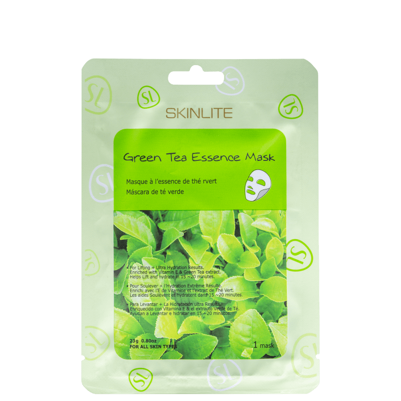 Skinlite Green Tea Essence - Máscara Facial (1 unidade)