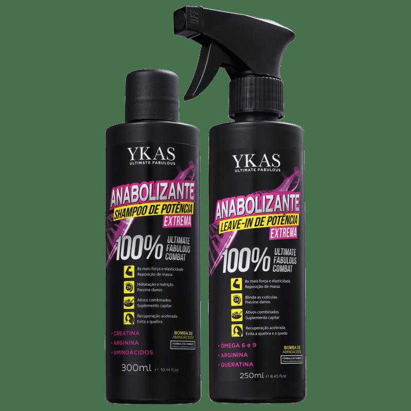 Kit YKAS Anabolizante Capilar de Potência Extrema (2 Produtos)