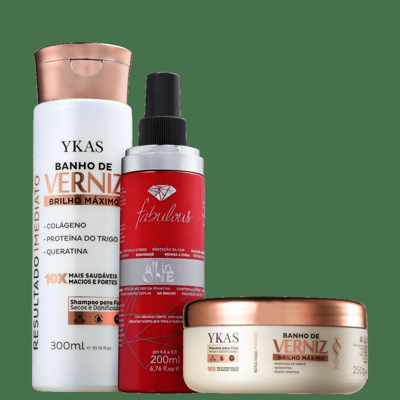 Kit YKAS All in One Verniz (3 Produtos)