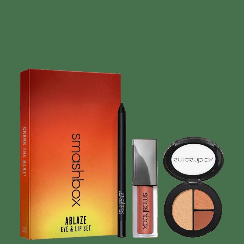Conjunto de Maquiagem Smashbox Ablaze Eye & Lip Set (3 Produtos)