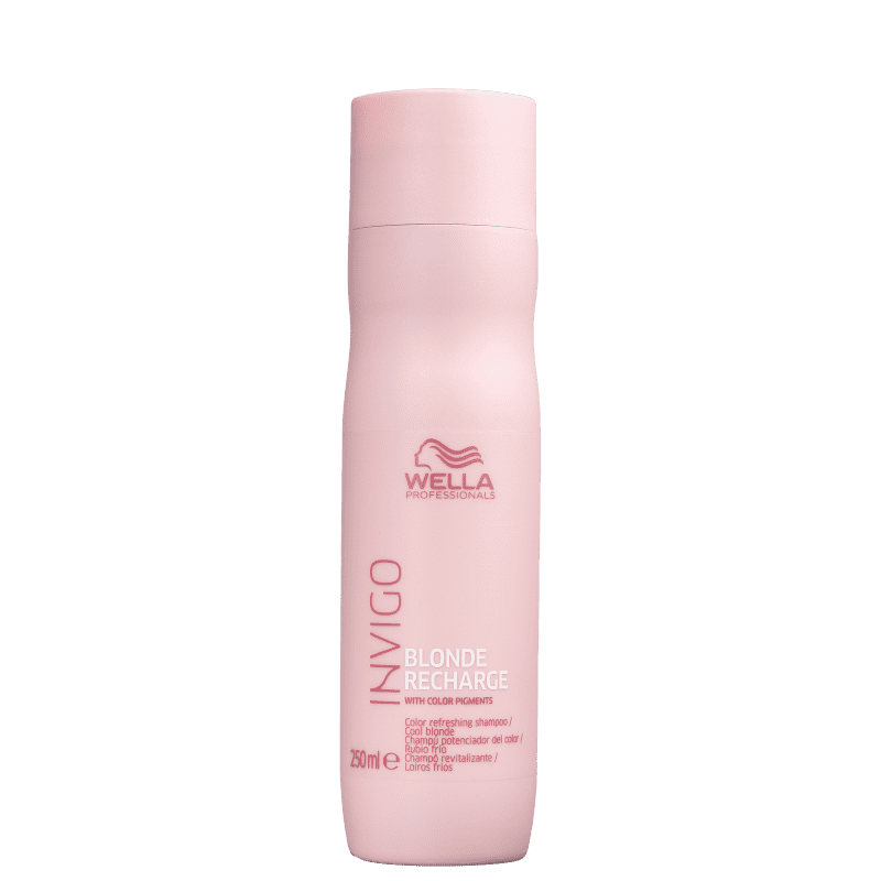 Wella Professionals Invigo Blonde Recharge - Shampoo Desamarelador 250ml