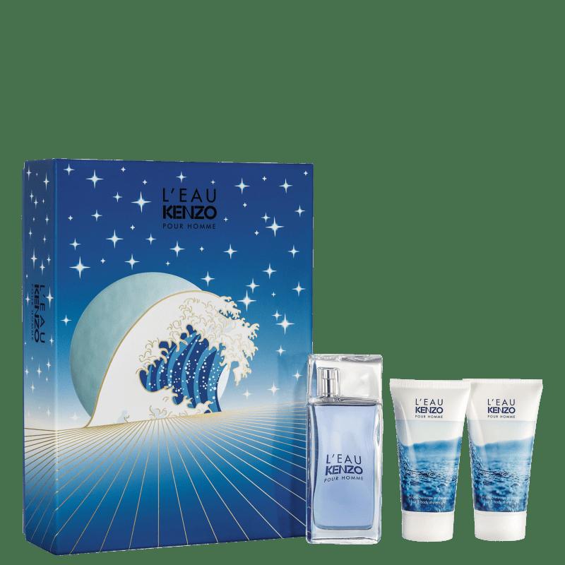 Conjunto Kenzo Homme Hair & Body Masculino - Eau de Toilette 50ml + Shampoo Multifuncional 2x50ml