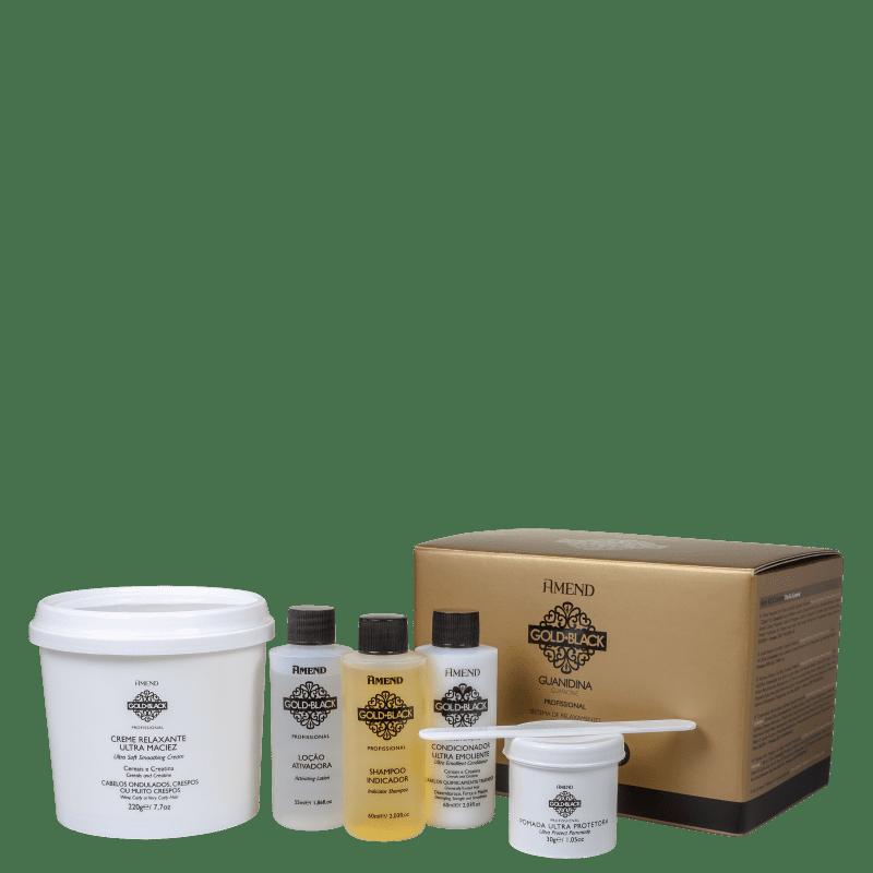 Kit Amend Gold Black Guanidina Profissional (5 Produtos)