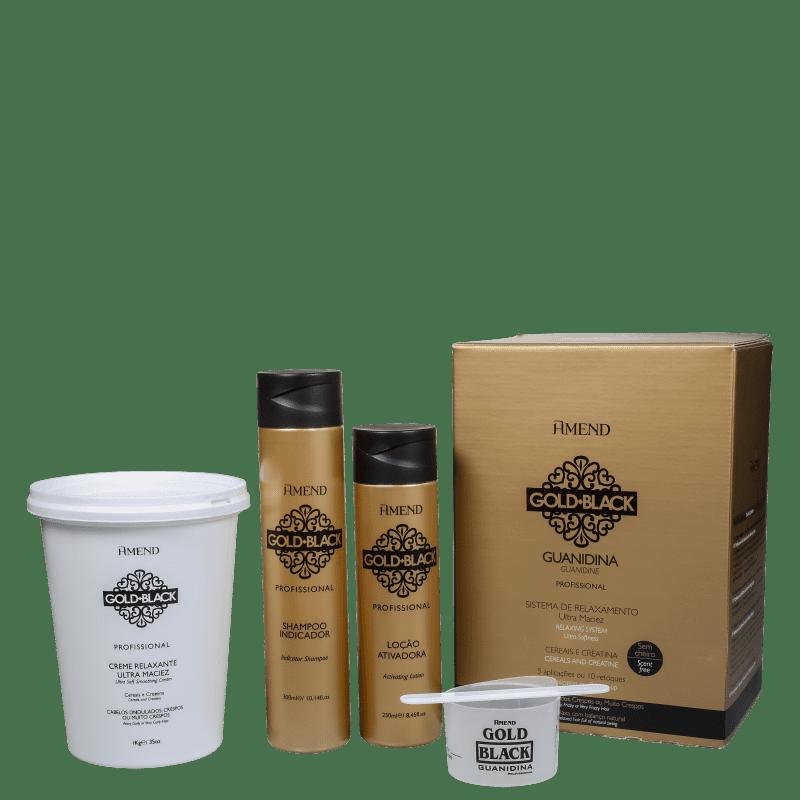 Kit Amend Gold Black Guanidina Profissional Plus (3 Produtos)
