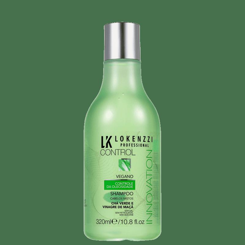 Lokenzzi Vegano Chá Verde e Vinagre de Maçã - Shampoo 320ml