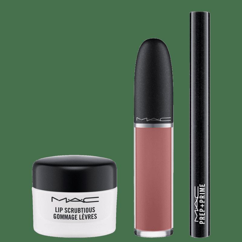M·A·C Kit Shiny Pretty Things Sweet Scrub Set Vanilla (3 produtos)
