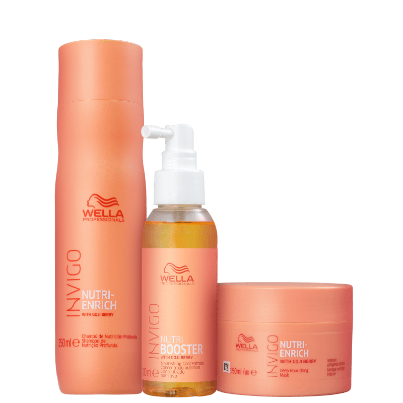 Kit Wella Professionals Invigo Nutri-Enrich Booster Trio (3 Produtos)