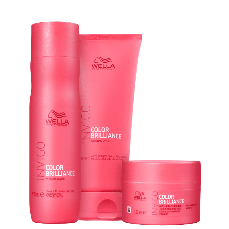 Kit Wella Professionals Invigo Color Brilliance Trio (3 Produtos)
