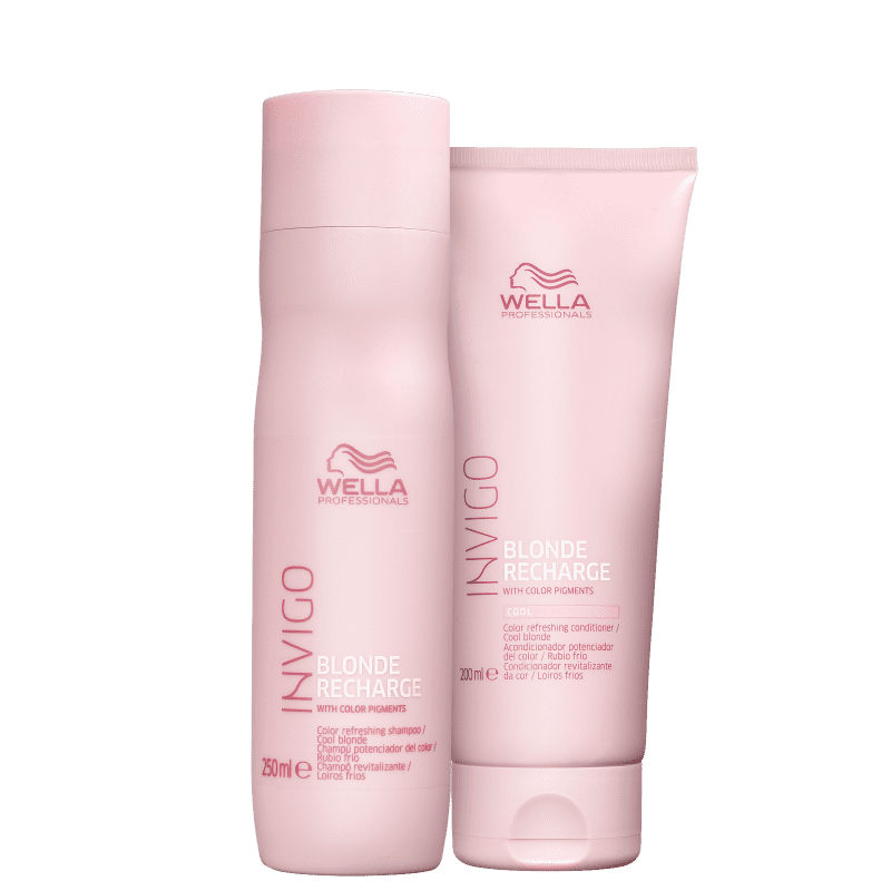Kit Wella Professionals Invigo Blonde Recharge Duo (2 Produtos)