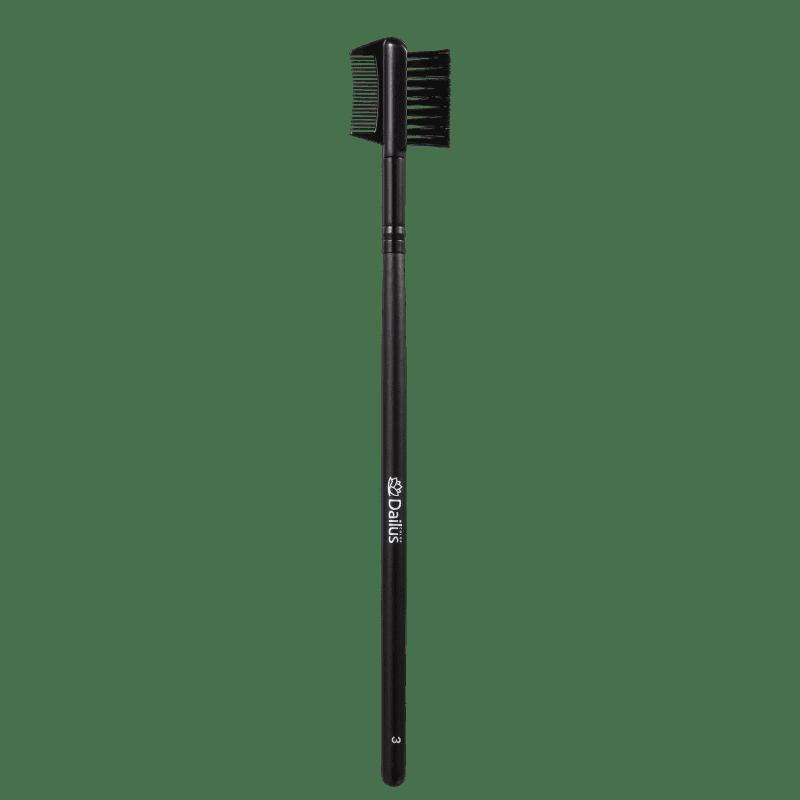 Dailus 03 Escova e Pente - Pincel para Cílios e Sobrancelhas