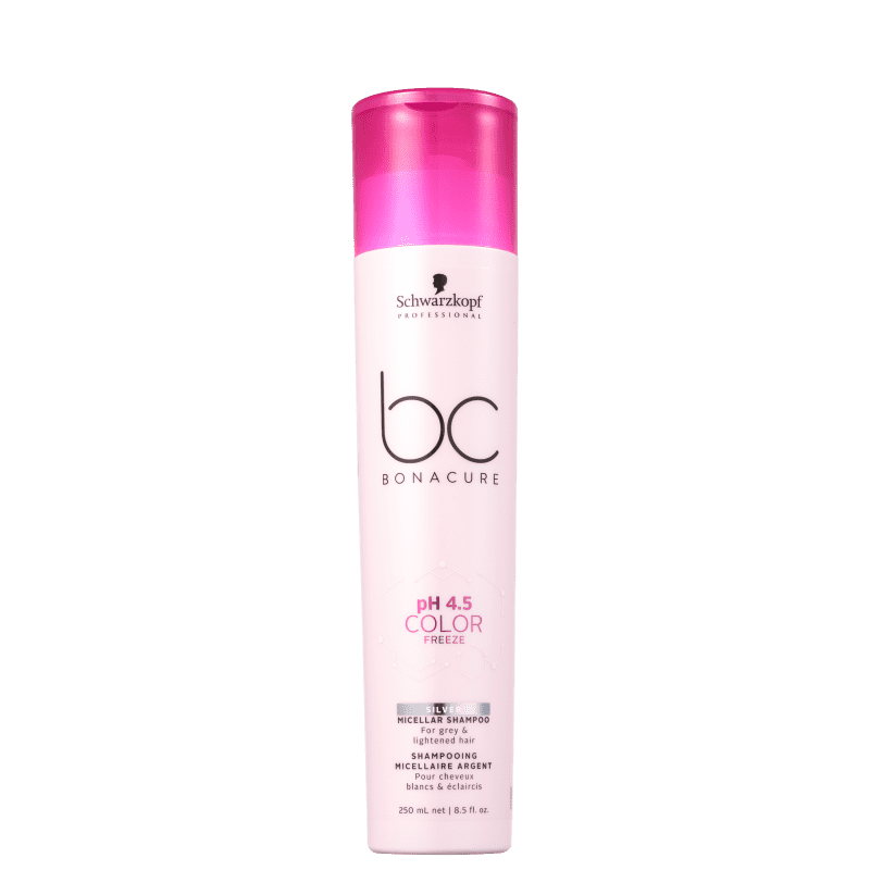 Schwarzkopf Professional BC Bonacure pH 4.5 Color Freeze Micellar Silver - Shampoo Desamarelador 250ml