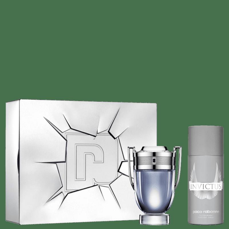 Conjunto Invictus Paco Rabanne Masculino - Eau de Toilette 100ml + Desodorante 150ml