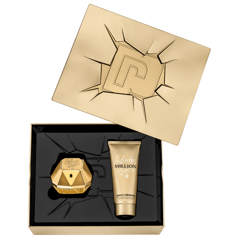 Conjunto Lady Million Feminino - Eau de Parfum 80ml + Loção Corporal 100ml
