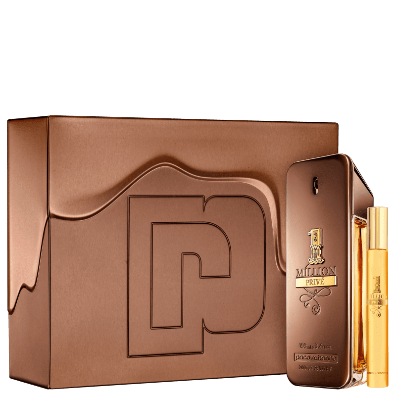Conjunto 1 Million Privé Paco Rabanne Masculino - Eau de Parfum 100ml + Travel Size 10ml