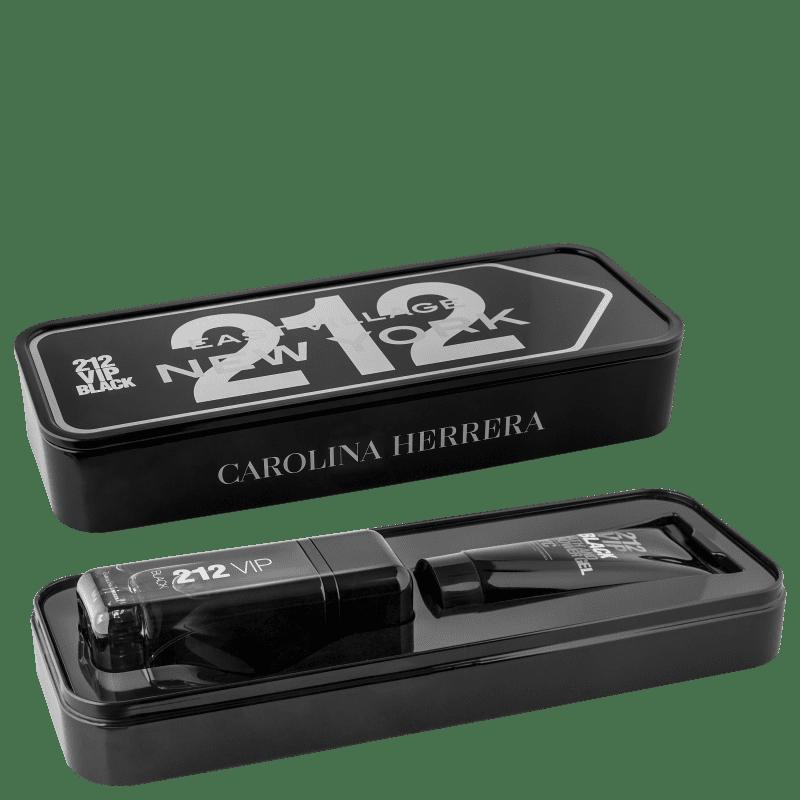 Conjunto 212 Vip Black Carolina Herrera Masculino - Eau de Parfum 100ml + Gel de Banho 100ml