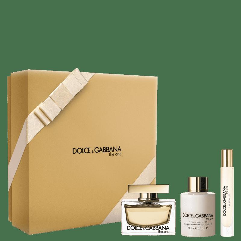 Conjunto The One Dolce & Gabbana Feminino - Eau de Parfum 75ml + Loção Corporal 100ml + Travel Size 7,4ml