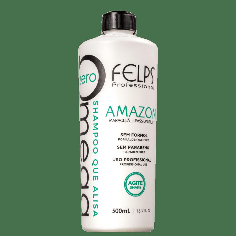 Felps Profissional Omega Zero Amazon - Shampoo Alisante 500ml