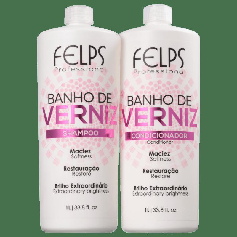 Kit Felps Profissional Banho de Verniz Salon Duo (2 Produtos)