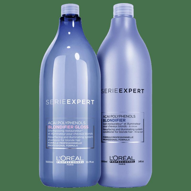Kit L'Oreál Professionnel Serie Expert Blondifier Gloss Salon Duo (2 Produtos)