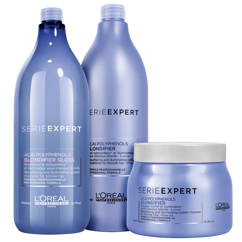 Kit L'Oréal Professionnel Serie Expert Blondifier Gloss Salon Trio (3 Produtos)
