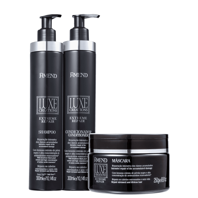 Kit Amend Luxe Creations Extreme Repair Trio (3 Produtos)
