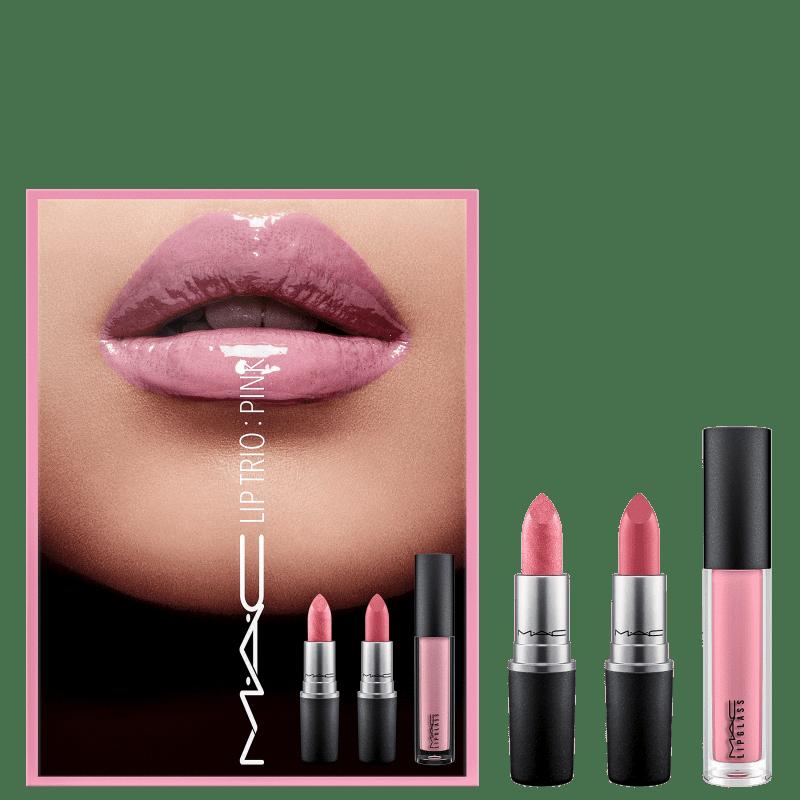 Kit M·A·C Lip Trio Pink (3 Produtos)
